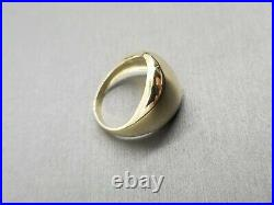 14K Solid Yellow Gold 12.5MM Polished Dome Light Band Ring. Size 7