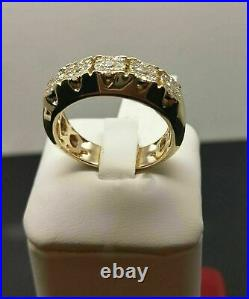 14K Yellow Gold Over Men's 2.50 CT Round Cut Diamond Engagement Pinky Ring Band