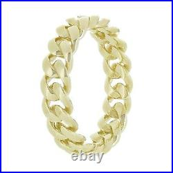 14k Yellow Gold Miami Cuban Ring Curb Link Band 5mm Size 8.5 4.6 grams