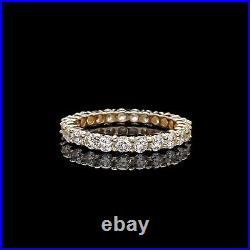1.00ct Brilliant Created Diamond Eternity Ring Solid 14k Yellow Gold Band Size 5