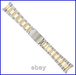 20mm 14k Gold Two Tone Oyster Band For 36mm Rolex Datejust 1602 1603 16014 16018