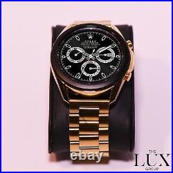 24K Gold Plated 45mm Samsung Galaxy 3 Watch with Gold Plated Link Band GSM LTE New