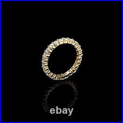 2.00ct Brilliant Created Diamond Eternity Ring Solid 14k Yellow Gold Band Size 7