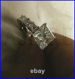 3.43ct Princess cut Solitaire Diamond Engagement Ring Band Solid 14k white Gold