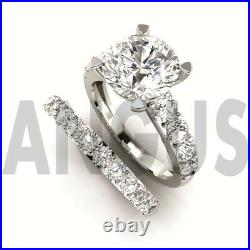 3.72ct Round Solitaire Diamond Engagement Ring Wedding Band Solid 14k White Gold