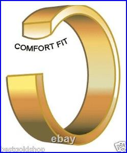 8mm Comfort Silk Fit Plain Wedding Band Ring Genuine 14K Yellow Gold size 7 8