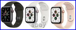 Apple Watch SE 40mm 44mm GPS + Cellular LTE Gold Space Gray Silver Pristine