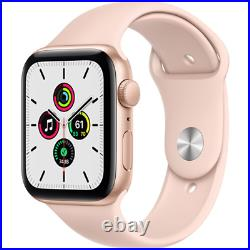 Apple Watch SE 44mm GPS Aluminum Gold Case Pink Sand Sport Band MYDR2LL/A