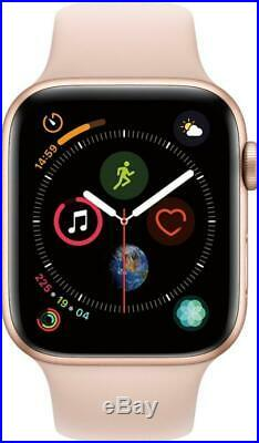 Apple Watch Series 4 44 mm Gold Aluminum Case with Pink Sand Sport Band (GPS)