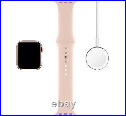 Apple Watch Series 5 (40MM) Gold & Pink Sand Sport Band GPS + LTE