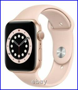 Apple Watch Series 6 44mm Gold Case Pink Sand Sport Band (GPS) PRISTINE IN BOX