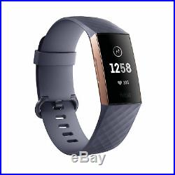 Fitbit Charge 3 Heart Rate + Fitness Band Activity Tracker Rose Gold/Blue Grey