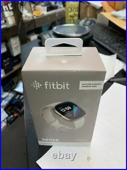 Fitbit Sense Health & Stress Management Smartwatch Soft Gold with White Band