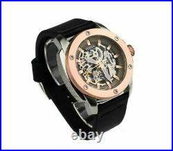 Fossil ME3082 Modern Machine Automatic Skeleton Dial Black Band 50mm Men's Watch