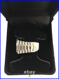 Men's 14kt Solid Yellow Gold Diamond Cluster Band Ring 20.1 Grams