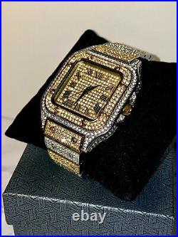 Men's Custom Fully Ice out Sport Iced Cz VVS Quality Watch Stainless Steel Band