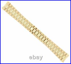 Mens 14k Yellow Gold President Watch Band For Rolex Day-date 20mm President 36mm