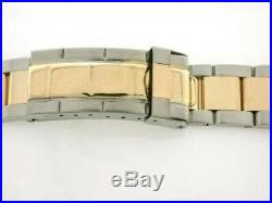 Mens 18k/ss Oyster Watch Band For Rolex Sub Gold Buckle
