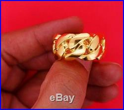 Mens Miami Cuban Link Ring 16mm 10k Solid Gold Extra Ordinary Best Price Video
