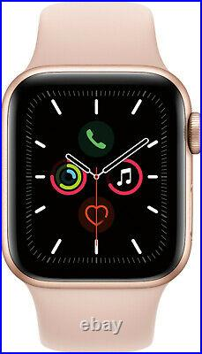 NEW Apple Watch Series 5 40mm GPS+Cellular Gold Aluminum Case and Pink Sand Band
