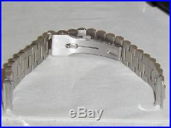 New Pave Diamond White Gold Band For Mens Rolex Day Date President