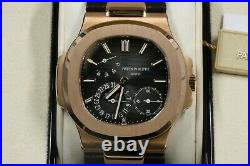 Patek Philippe Nautilus Rose Gold Leather Band Brand New 5712R Box/Papers -2019