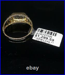 Real 10k Yellow Gold with Real Diamond Ring Band, Men's Wedding/Anniversary N